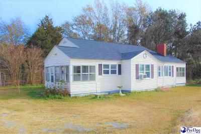 Effingham SC Single Family Home For Sale: $80,000