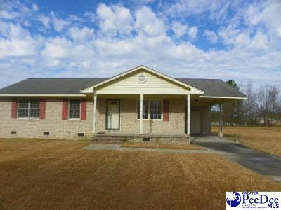 Bennettsville SC Single Family Home For Sale: $39,900