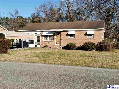 Mullins Single Family Home For Sale: 1006 N Park Street Ext