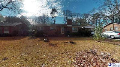 Hartsville Single Family Home Uc/Show For Back Up: 1307 Reed Ave