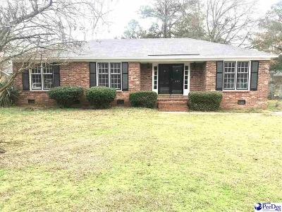 Florence SC Single Family Home For Sale: $110,000