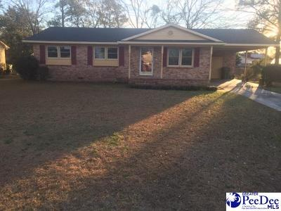 Florence SC Single Family Home For Sale: $99,500