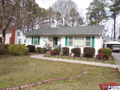 Bennettsville SC Single Family Home For Sale: $49,900
