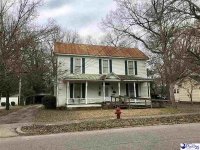 Bennettsville SC Single Family Home For Sale: $65,000