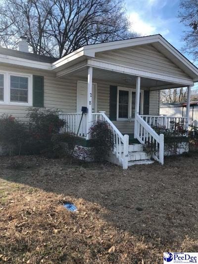 Hartsville Single Family Home Uc/Show For Back Up: 208 N Mary St