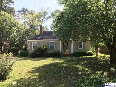 Florence SC Single Family Home Uc/Show For Back Up: $70,000