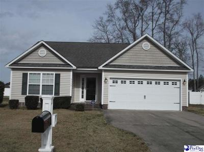 Florence SC Single Family Home Uc/Show For Back Up: $142,900