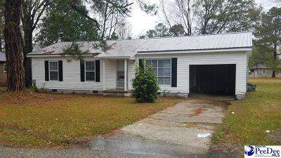 Marion SC Single Family Home For Sale: $89,900