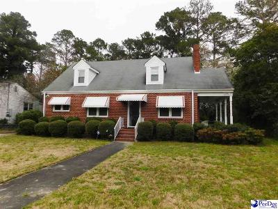 Florence County Single Family Home Uc/Show For Back Up: 207 N Pinckney Street
