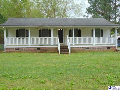 Effingham Single Family Home For Sale: 4448 Charlie Cade Rd