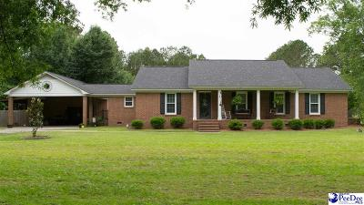 Timmonsville Single Family Home For Sale: 2909 Robert E Lee Dr