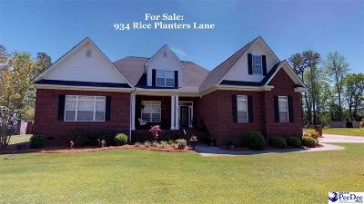 Florence Single Family Home For Sale: 934 Rice Planters Lane