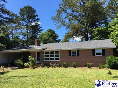 Hartsville Single Family Home Uc/Show For Back Up: 1002 Edgewood Drive