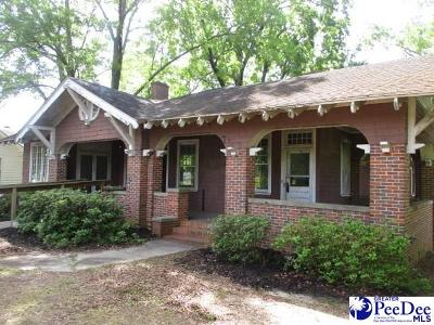 Bennettsville, Blenheim, Cilo, Clio, Mccoll, Tatum, Wallace Single Family Home For Sale: 808 Fayetteville Ave.