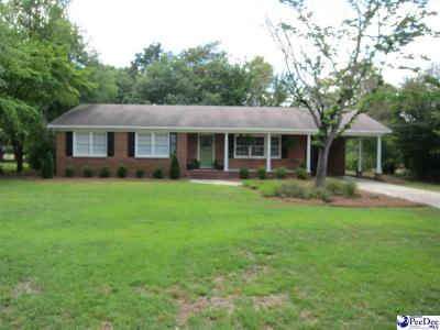 Hartsville SC Single Family Home For Sale: $165,000