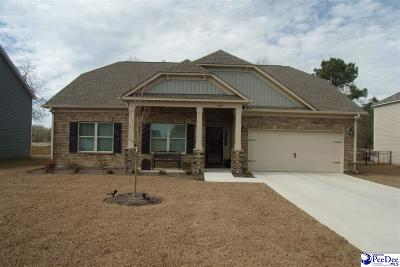 Florence SC Single Family Home Uc/Show For Back Up: $249,234