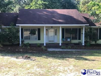 Hartsville SC Single Family Home Uc/Show For Back Up: $169,500