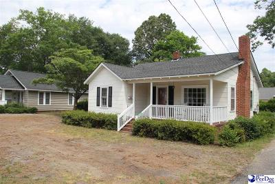 Hartsville Single Family Home Uc/Show For Back Up: 822 W Carolina