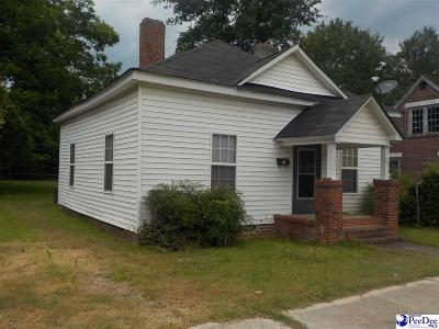 Bennettsville, Blenheim, Cilo, Clio, Mccoll, Tatum, Wallace Single Family Home For Sale: 213 Marshall Street
