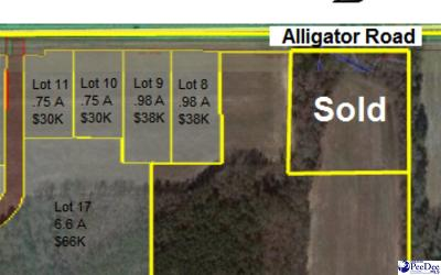 Timmonsville Residential Lots & Land For Sale: 3834 Alligator Rd