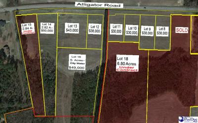 Timmonsville Residential Lots & Land For Sale: 3850 Alligator Rd