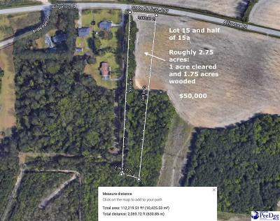 Timmonsville Residential Lots & Land For Sale: Lot #15-A Alligator Rd