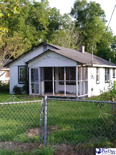 Florence Single Family Home For Sale: 608 Coker Street