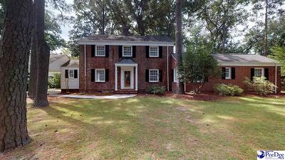 Hartsville Single Family Home Uc/Show For Back Up: 109 E Pinewood Avenue