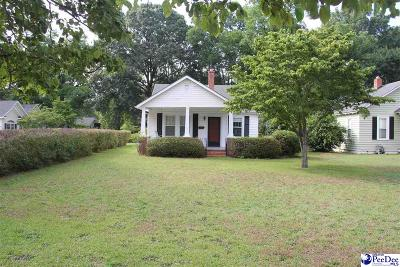 Hartsville Single Family Home Uc/Show For Back Up: 628 W College Ave