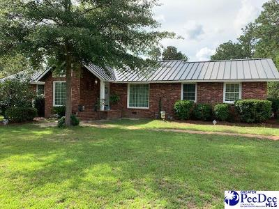 Hartsville Single Family Home For Sale: 1644 W Old Camden Road