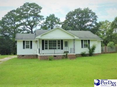 Timmonsville Single Family Home For Sale: 1807 Cale Yarborough Hwy
