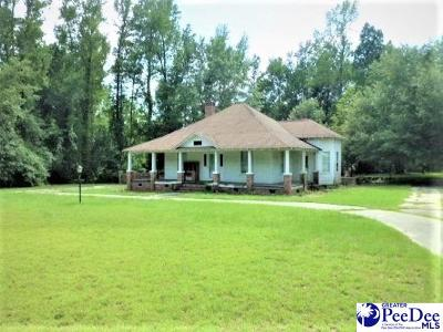 Timmonsville Single Family Home For Sale: 1817 Cale Yarborough Hwy