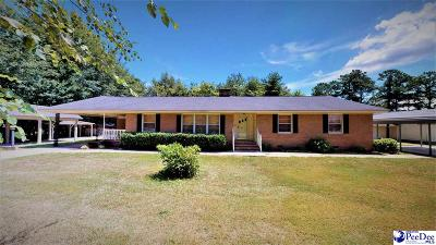 Florence Single Family Home For Sale: 2436 Francis Marion Rd