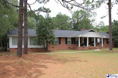 Hartsville Single Family Home For Sale: 2014 W Carolina