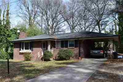 Spartanburg Single Family Home For Sale: 99 Saluda Street