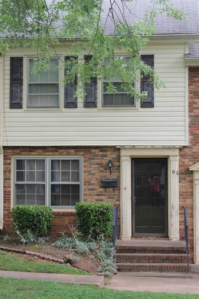 Spartanburg Condo/Townhouse For Sale: 1460 Dover Road Apt D
