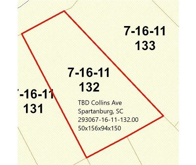 Spartanburg Residential Lots & Land For Sale: Collins Ave