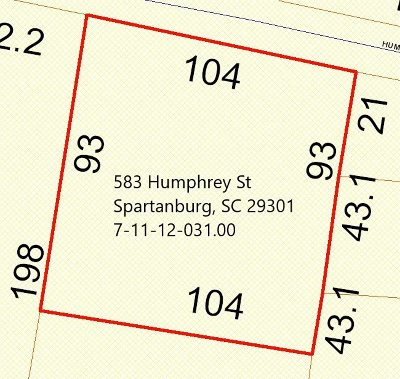 Spartanburg Residential Lots & Land For Sale: 583 Humphrey Street