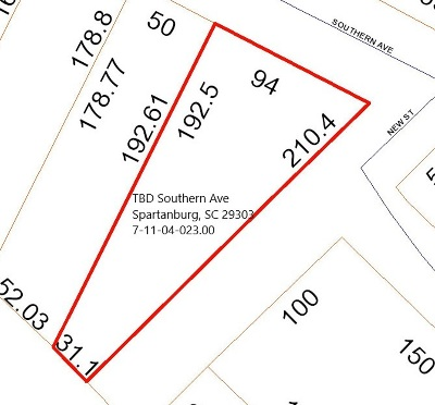 Spartanburg Residential Lots & Land For Sale: Southern Ave