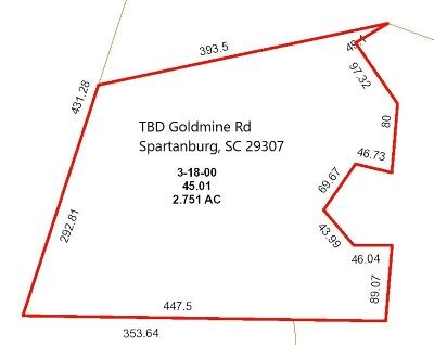 Spartanburg Residential Lots & Land For Sale: Goldmine Rd