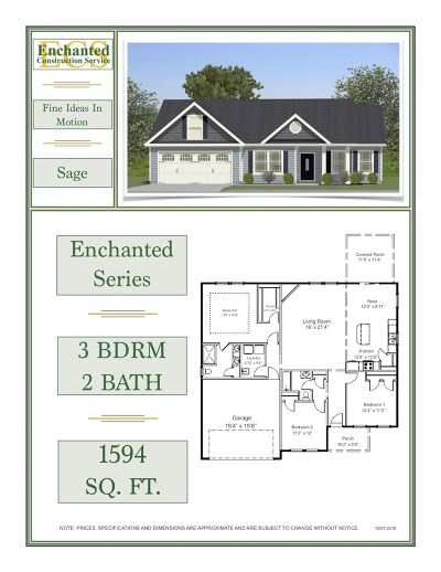 Chesnee Single Family Home For Sale: 236 Hardin Rd Lot 10