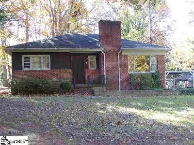 Greenville Single Family Home For Sale: 25 Twin Springs Drive