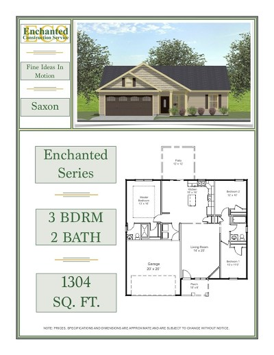 Chesnee Single Family Home For Sale: 224 Hardin Rd Lot 6