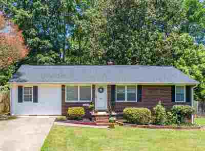 Greenville County Single Family Home For Sale: 33 Butternut Drive