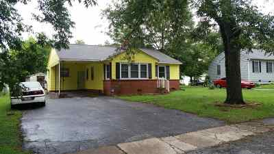 Spartanburg SC Single Family Home For Sale: $44,500