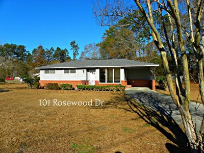 Walterboro Single Family Home For Sale: 101 Rosewood Drive