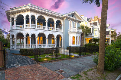 Charleston Single Family Home For Sale: 26 South Battery Street