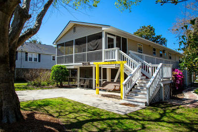 Folly Beach Single Family Home For Sale: 218 E Ashley Avenue #A&B