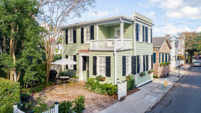Charleston Single Family Home Contingent: 154 Tradd Street