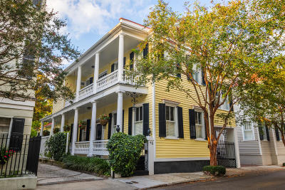 Charleston Single Family Home For Sale: 90 Tradd Street